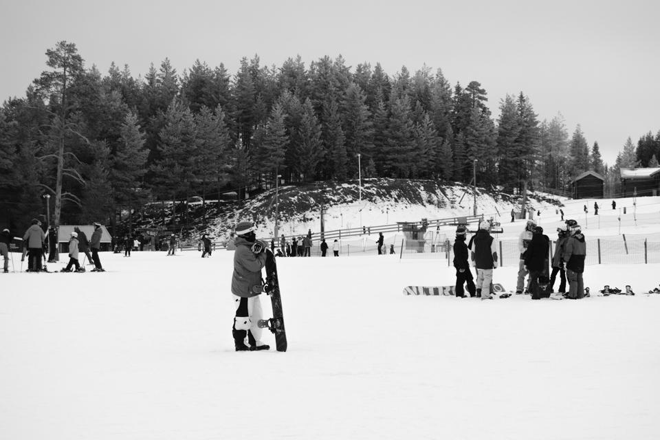 slalomåkare i skidbacken