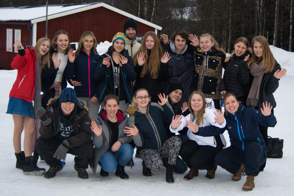 SCUF-deltagare på vinterlägret 2017