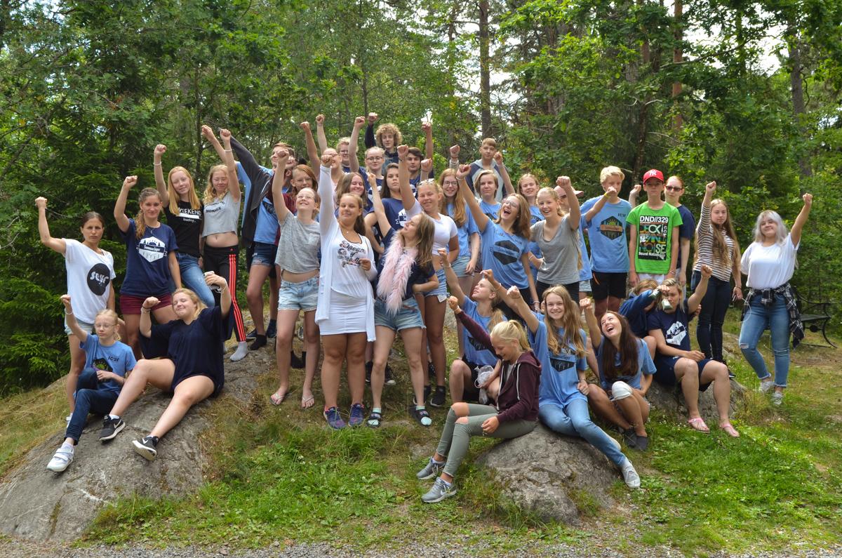 Deltagare på sommarlägret 2017