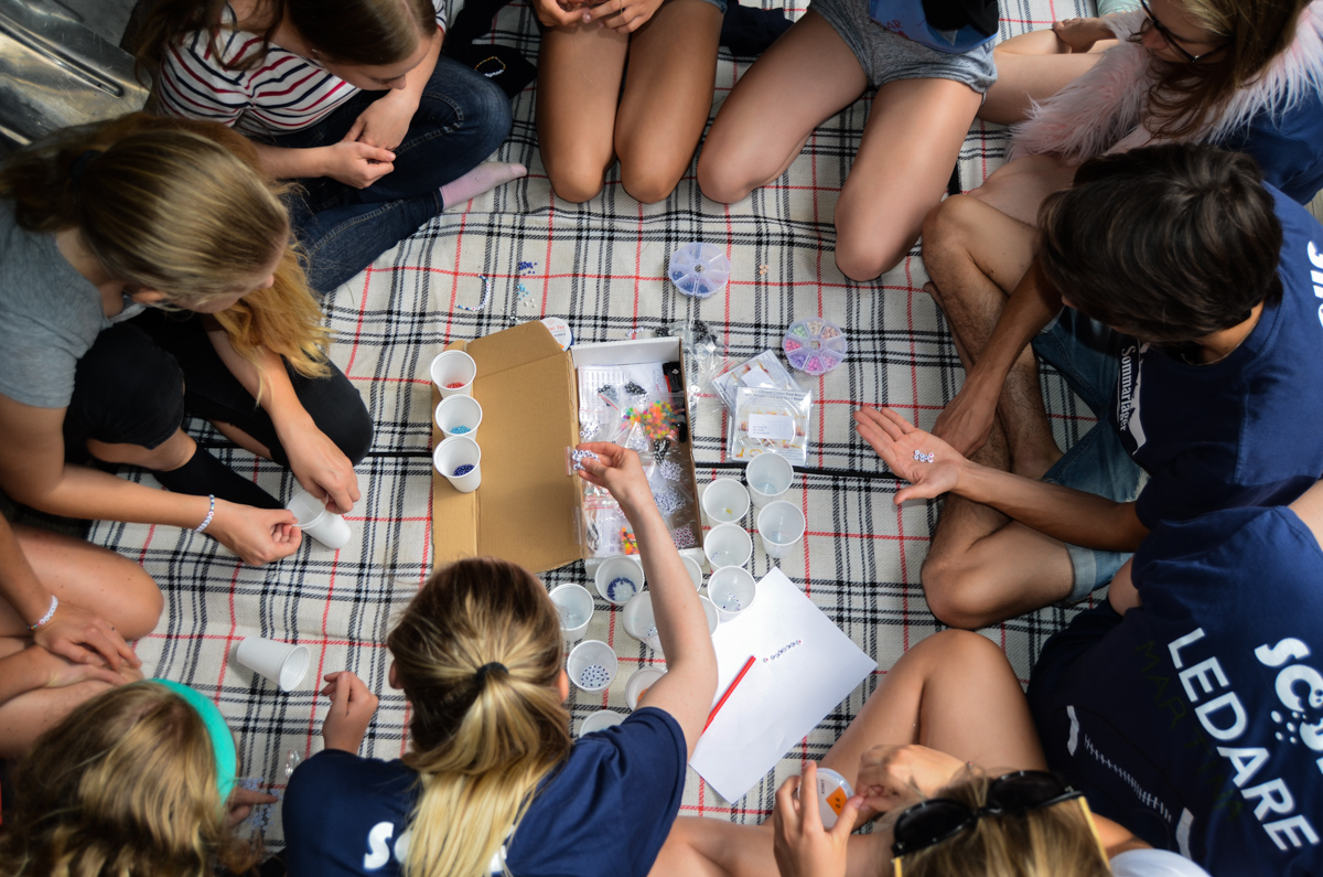 Celiakiarmband på sommarlägret 2017