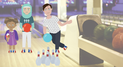 illustration bowling