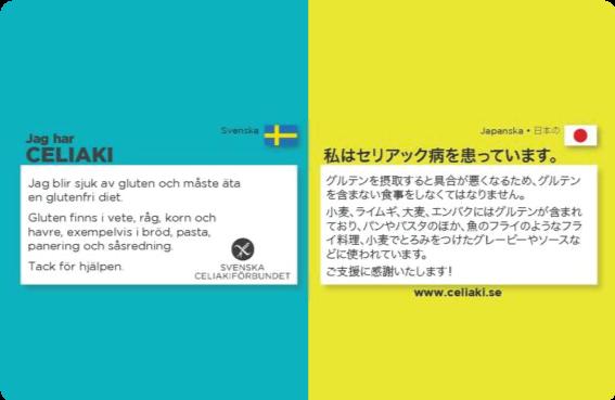 Översättningskort glutenfritt SCF