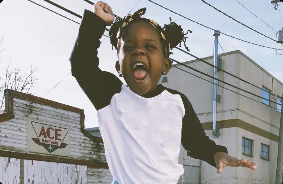Ett barn som säger ifrån
